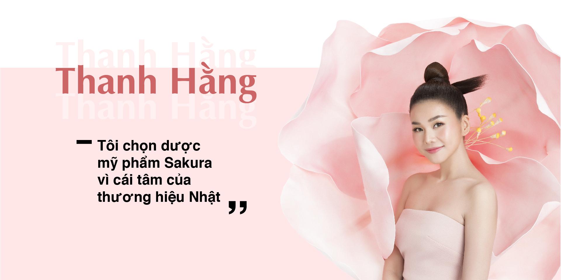 Thanh Hằng trở thành đại sứ thương hiệu Dược mỹ phẩm Sakura