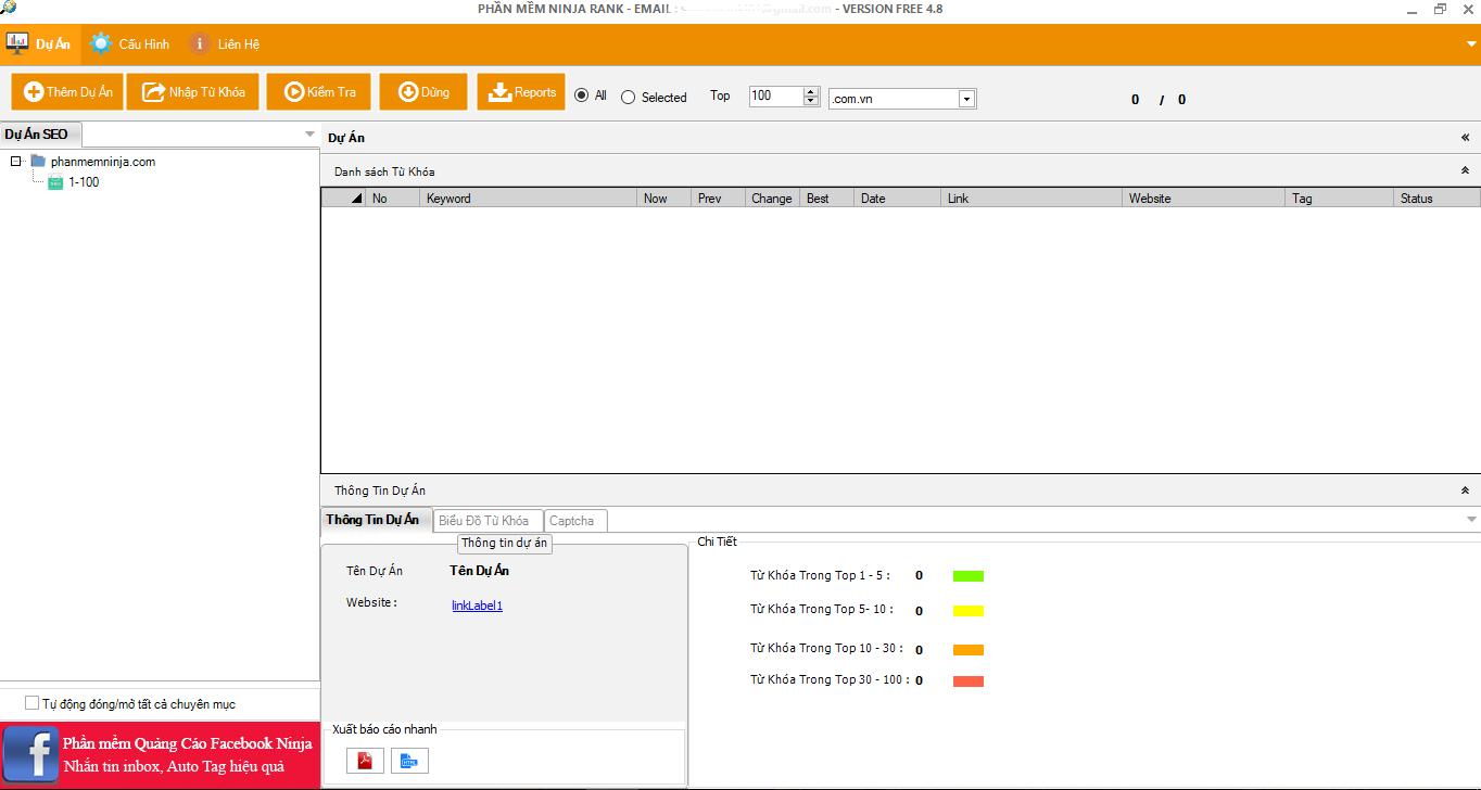 Phần mềm Ninja Tiết kiệm tối đa thời gian với phần mềm kiểm thứ hạng từ  khóa - Ninja Rank