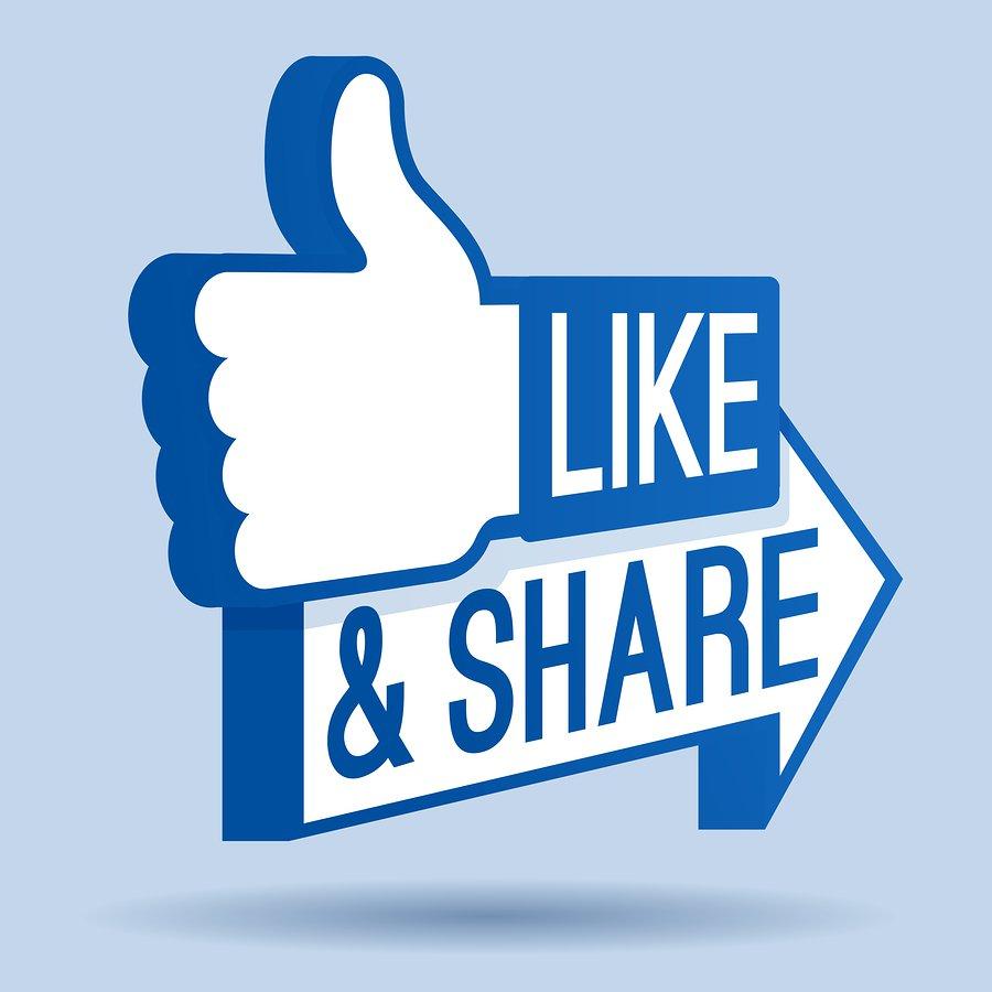 lượt like và share