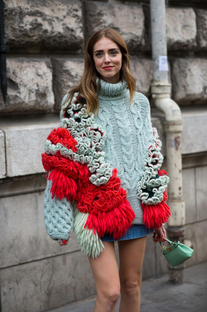 Những trang phục theo phong cách thời trang nữ rực rỡ được Chiara Ferragni chọn lựa.